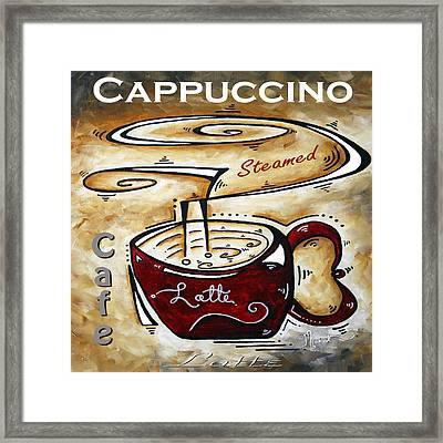 Latte Original Painting Madart Framed Print by Megan Duncanson