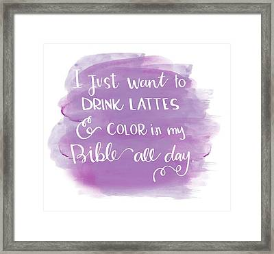 Lattes And Color Framed Print