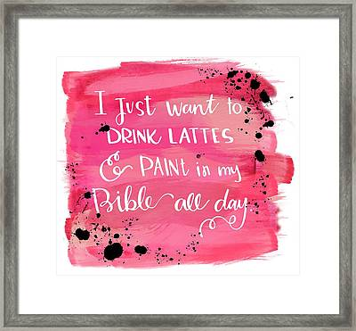 Lattes And Paint Framed Print
