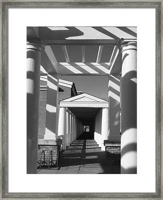 Lattice And Shadows Framed Print by Steven Ainsworth