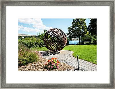 Latticed Iron Ball With Shadow Framed Print