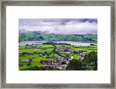 Lauerzersee During Storm - Schwyz Canton Framed Print by Gary Whitton