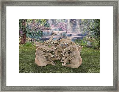 Laugh A Little  Framed Print by Betsy Knapp