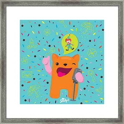 Laugh And Attract Good Luck  Framed Print