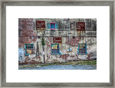 Laugh Love Hope Framed Print