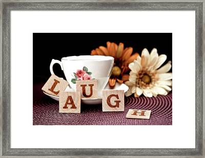 Laugh Framed Print by Tom Mc Nemar