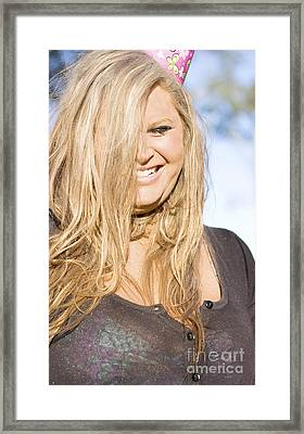 Laughing Birthday Woman Framed Print by Jorgo Photography - Wall Art Gallery