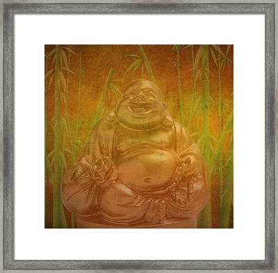 Laughing  Buddha Framed Print by Art Spectrum