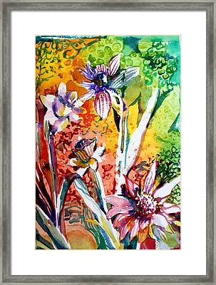 Laughing Flowers Framed Print by Mindy Newman