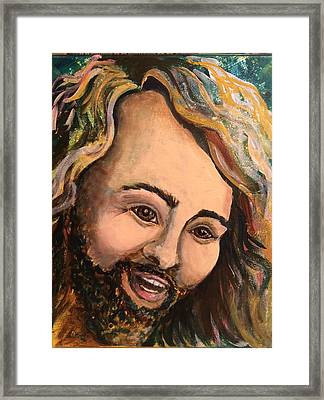Laughing Jesus Framed Print