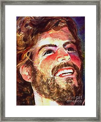 Laughing Jesus Framed Print by Reveille Kennedy