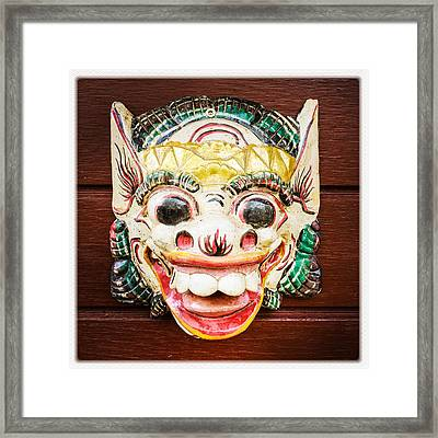 Laughing Mask Framed Print