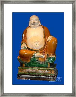 Laughing Monk Framed Print