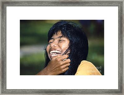 Framed Print featuring the photograph Laughing Out Loud by Heiko Koehrer-Wagner