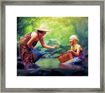 Framed Print featuring the photograph Laughter by Bellesouth Studio