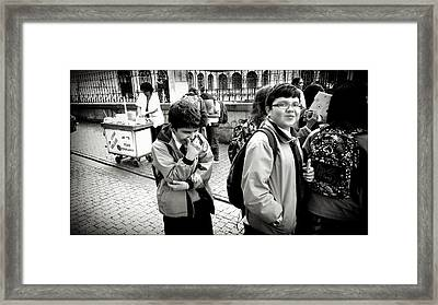Laughter In The Street Framed Print