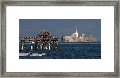 Launch Beyond The Pier Framed Print