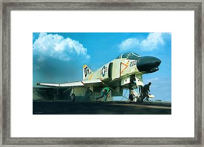 Launch The Bones Framed Print by Peter Chilelli