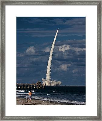 Launch View Framed Print