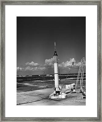Launching Of The Mercury-redstone 3 Framed Print by Stocktrek Images