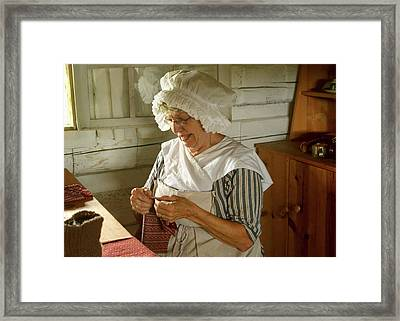 Framed Print featuring the photograph Laundress - Mending by Nikolyn McDonald