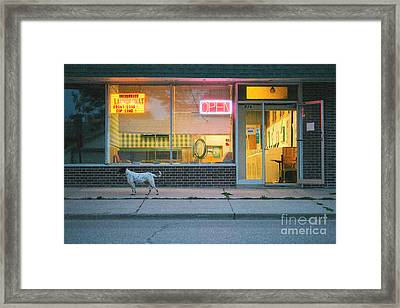 Laundromat Open Framed Print