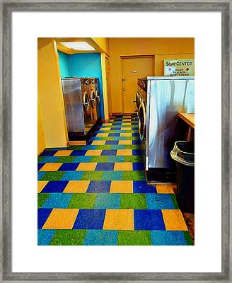 Laundry Colors Framed Print