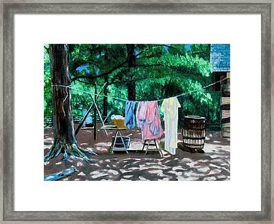 Laundry Day 1800 Framed Print by Stan Hamilton