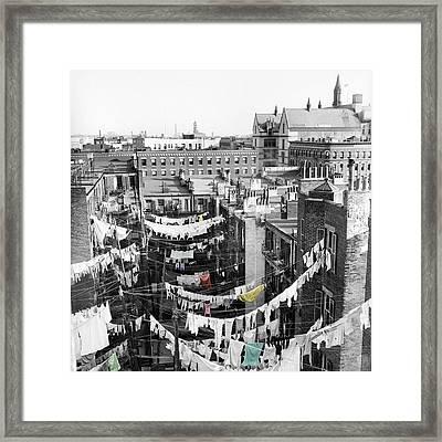 Laundry Day Framed Print