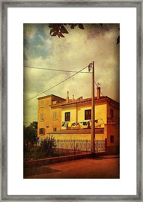 Framed Print featuring the photograph Laundry Day by Anne Kotan