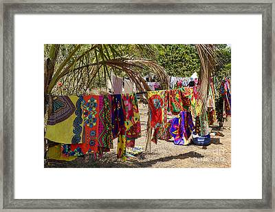 Laundry Day In Panamanian Village Framed Print by Kenneth Lempert