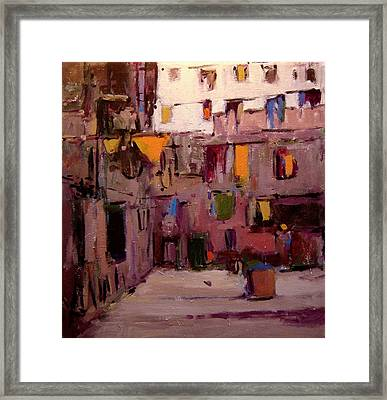 Laundry Day In Venice Framed Print by R W Goetting
