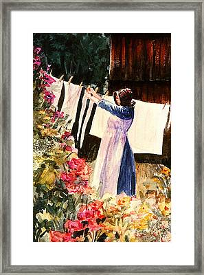 Laundry Day Framed Print by Marilyn Smith