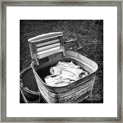 Laundry Day Framed Print by Patrick M Lynch