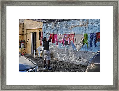 Laundry Day Framed Print by Steffani Cameron