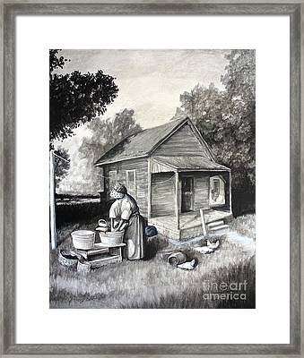 Laundry Day Framed Print by Theon Guillory