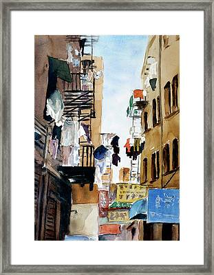 Laundry Day Framed Print by Tom Simmons
