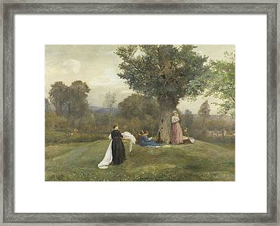 Laundry Day, West Somerset  Framed Print by John William North