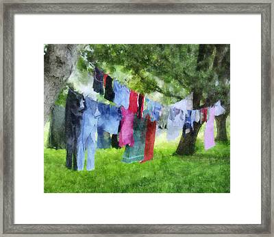 Laundry Line Framed Print by Francesa Miller