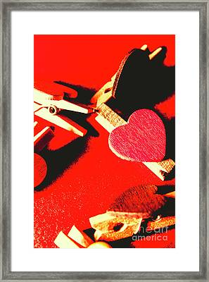 Laundry Love Framed Print