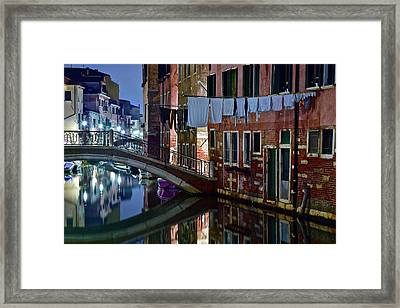 Laundry On The Line Framed Print