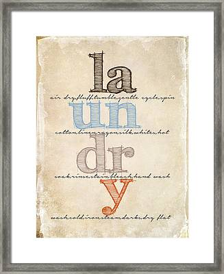 Laundry Room Sign Framed Print