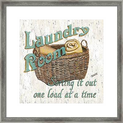 Laundry Room Sorting It Out Framed Print by Debbie DeWitt