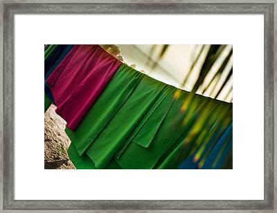 Laundry Framed Print by Sebastian Musial