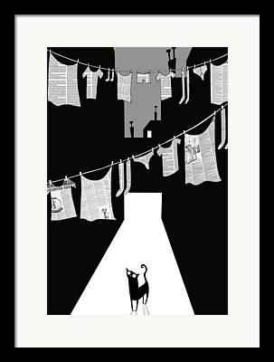 Washing Clothes Framed Prints