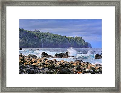 Framed Print featuring the photograph Laupahoehoe Point by DJ Florek