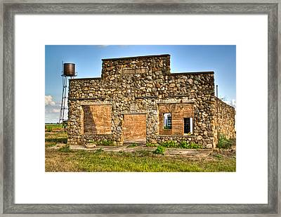 Laura Town Ghost Town In Arkansas  Framed Print by Douglas Barnett