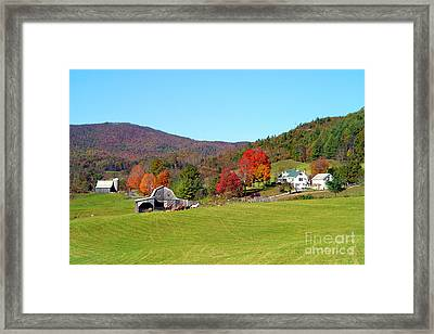 Laura's Farm Framed Print