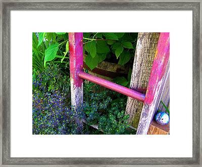 Laura's Ladder Framed Print by Jen White