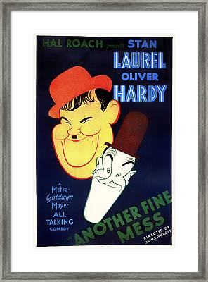 Laurel And Hardy - Another Fine Mess 1930 Framed Print by Mountain Dreams